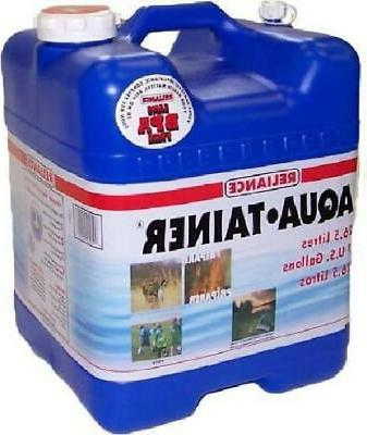 aqua tainer 7 gallon rectangular rigid water