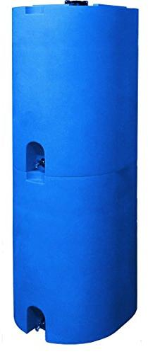 Blue 55 Gallon Water Storage Tank - Emergency Container With Stackable, Space BPA