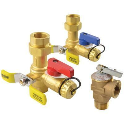 Rheem Brass Service Vales Hot Cold Relief Valves for Tankles