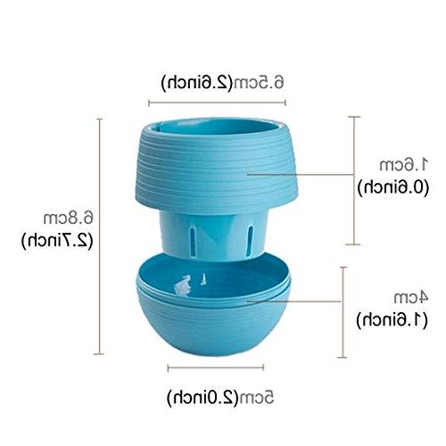 Mini Round Plastic Flower Pot Home Office Decoration Water Tank Delivery
