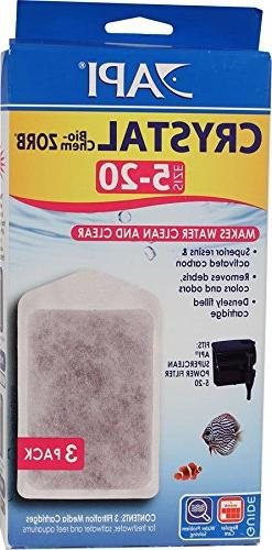 API 3-Pack Crystal Bio-Chem Zorb Filter Cartridge for Aquari