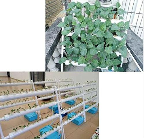 INTBUYING Pipe Hydroponic 70 Plant Site Grow Planting Equipment