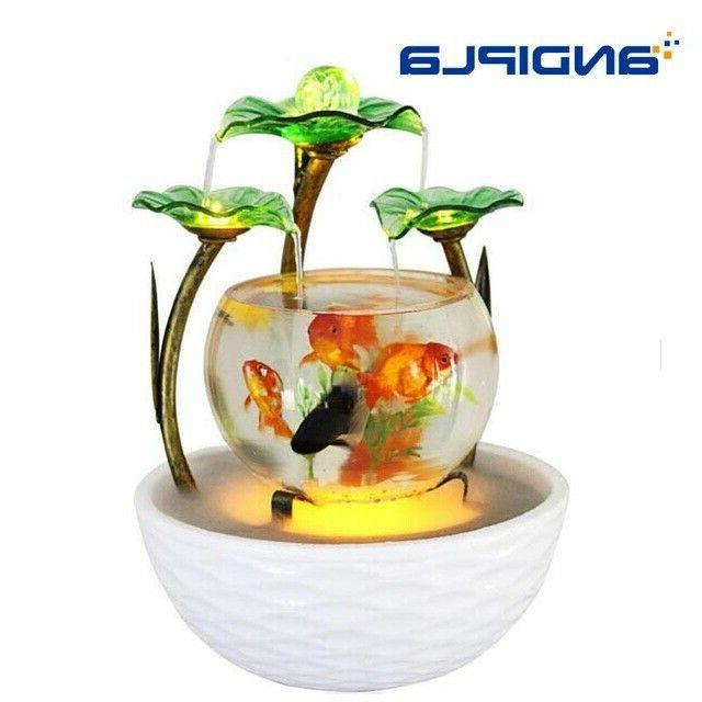 fish tank ceramic water fountain office home