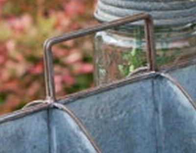 Galvanized Feed Trough Caddy Handle 10 compartments