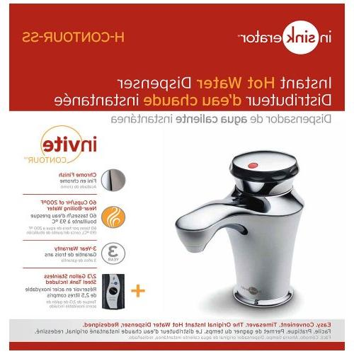InSinkErator H-CONTOUR-SS Instant Hot Water System with Steel Tank,