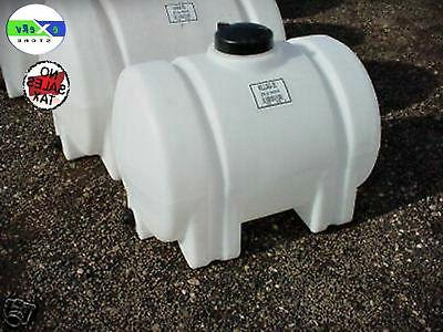 35-Gallon Horizontal Plastic Water Tank Bulkhead Storage Con