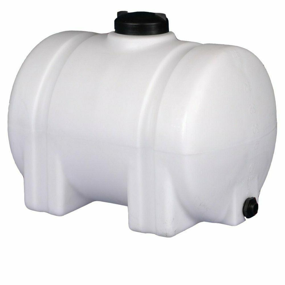 35-Gallon Horizontal Plastic Water Tank Bulkhead Storage Container Norwesco