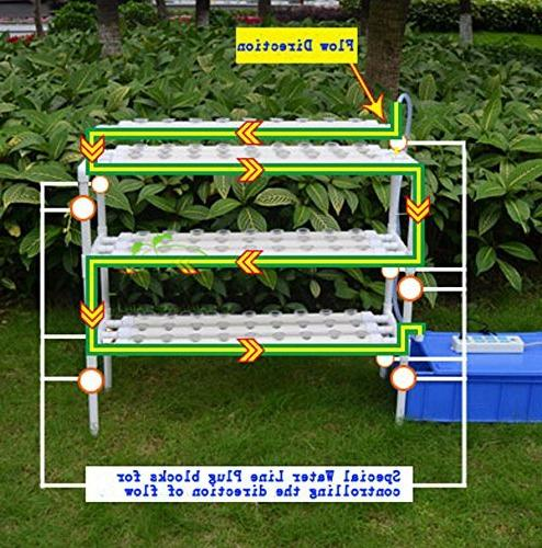INTBUYING Hydroponic Hydroponic Growing System Leafy Vegetables 3 Sites
