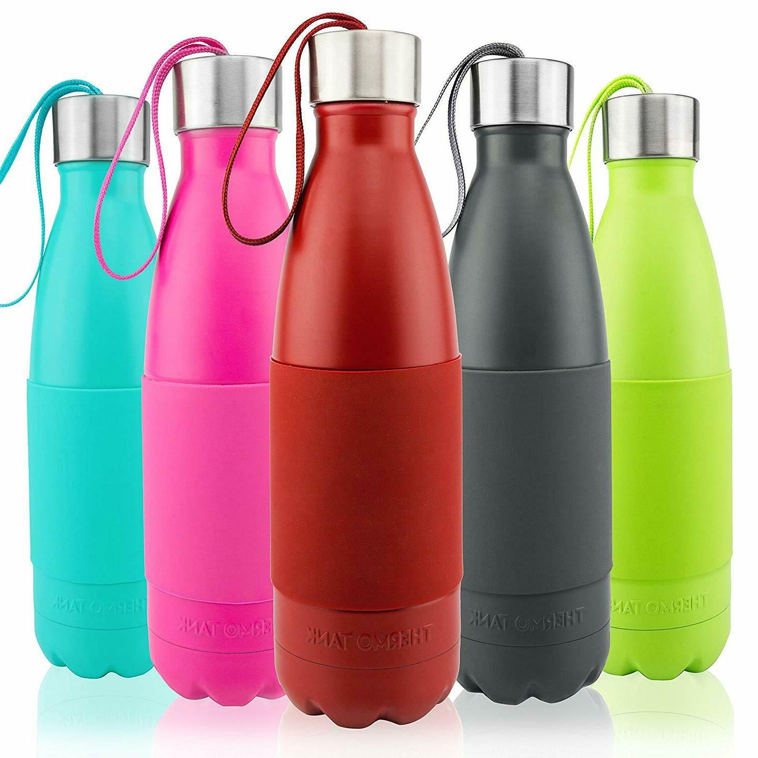 Thermo Tank Insulated Stainless Steel 17 oz Water Bottle, RE