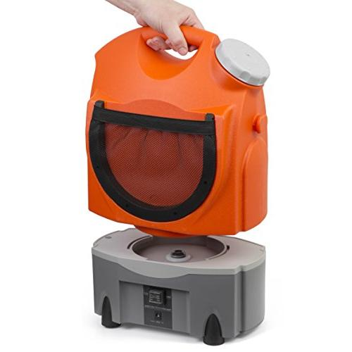 Ivation Multipurpose Portable Washer Tank Runs Built-In Battery, Plug and 12v Car Plug Integrated