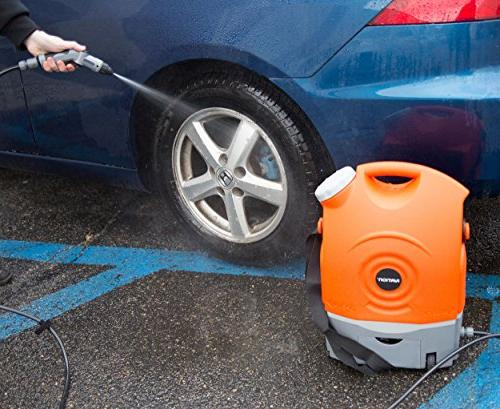 Ivation Multipurpose Portable Spray Washer Tank Runs Built-In Battery, 12v Car Plug - Integrated