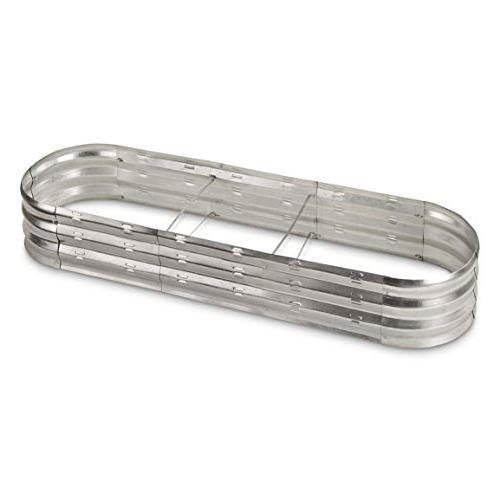 oval galvanized steel planter