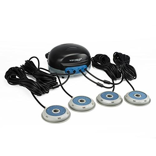 Aquascape Pond AIR Aerator with Additional Replacement AIRSTONES, Line, Power Cord - Oxygen, Raises Water and Helps Fish and - Quiet Efficient