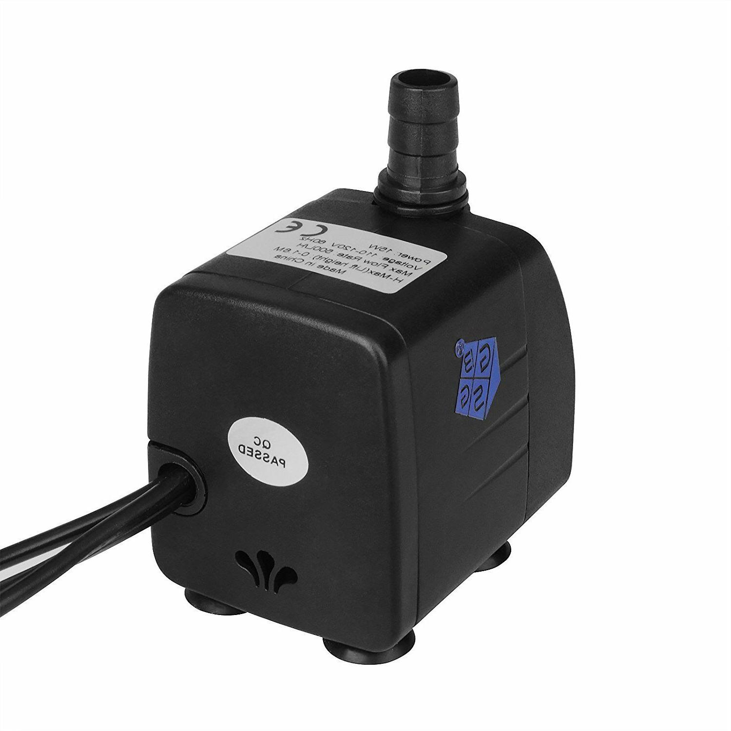 Pond Water Pump LED Lights Fountain 500L/H
