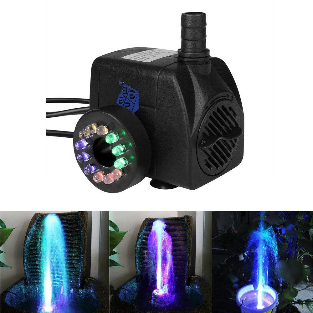 pond water pump with led lights