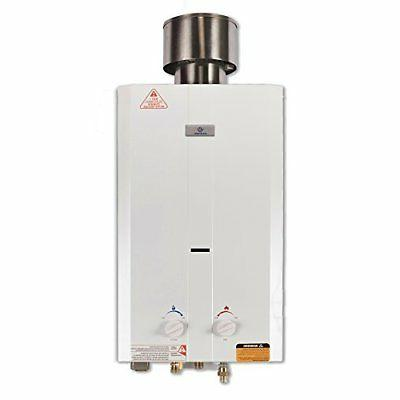 portable tankless water heater runs on a