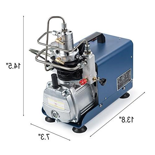 High-Pressure Air Compressor 110V Pump 4500PSI Fill Station for Fighting and Diving