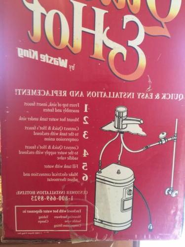 Waste Quick & Hot Hot Faucet Tank Unit Chrome
