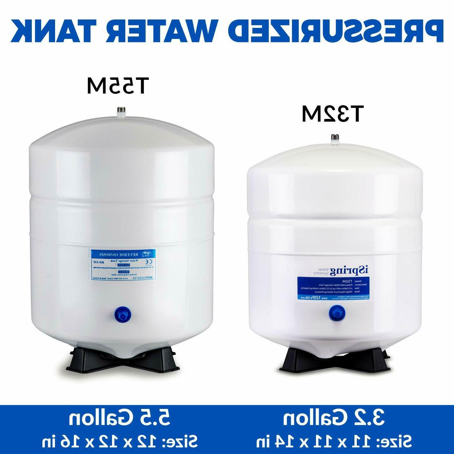 RO Water Pressurized 4 Gallon Osmosis