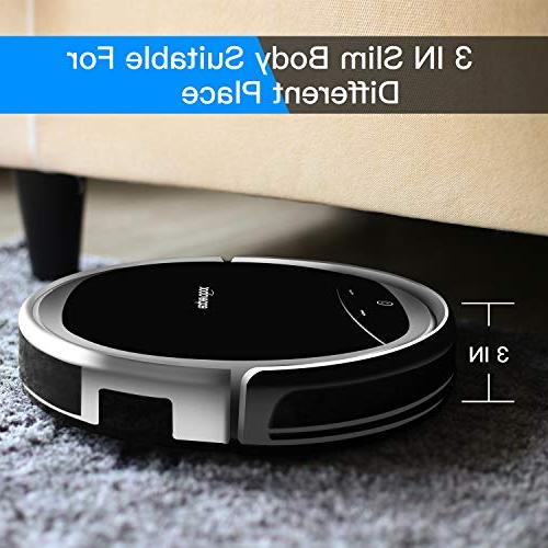 Robotic Vacuum Cleaner for Carpet Floor Cleaning, Higher Suction and Wet/Dry Vacuum with Water Recharge and Anti Sensors