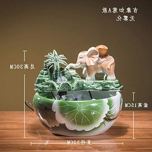 Sitting Fortune Flowing Table top Tank Atomization Fountain