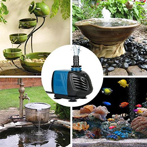 Uniclife GPH Submersible/Inline Water Pool Fountain Tank
