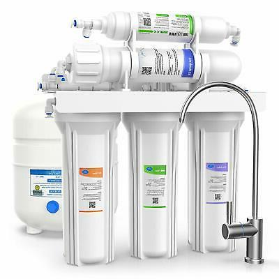 Under Drinking Filter System,75GPD Osmosis Faucet&Tank