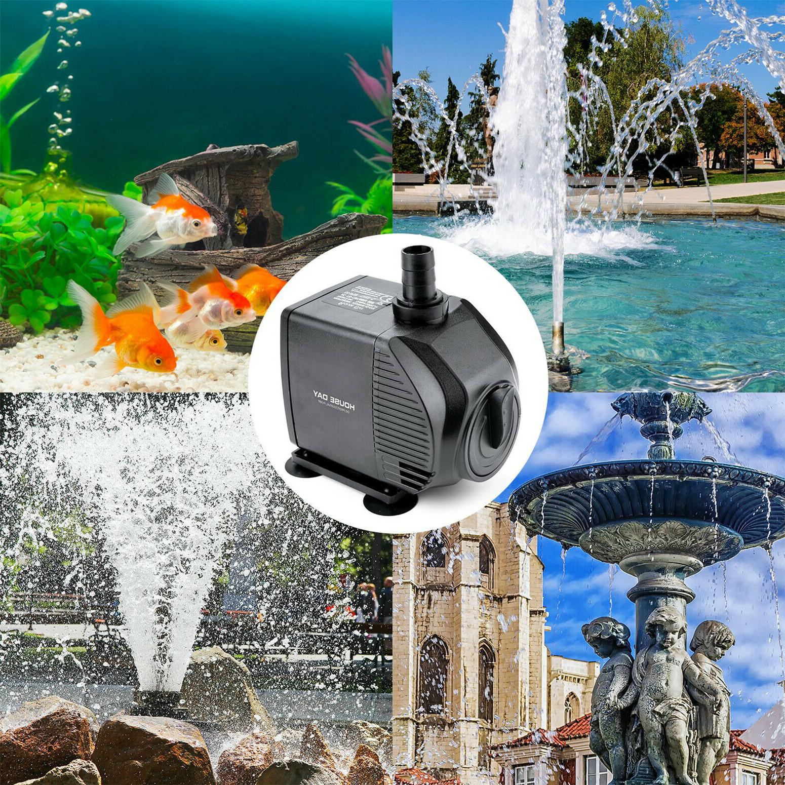 Water Pump 750 GPH Submersible Fish Aquarium Tank Fountain P