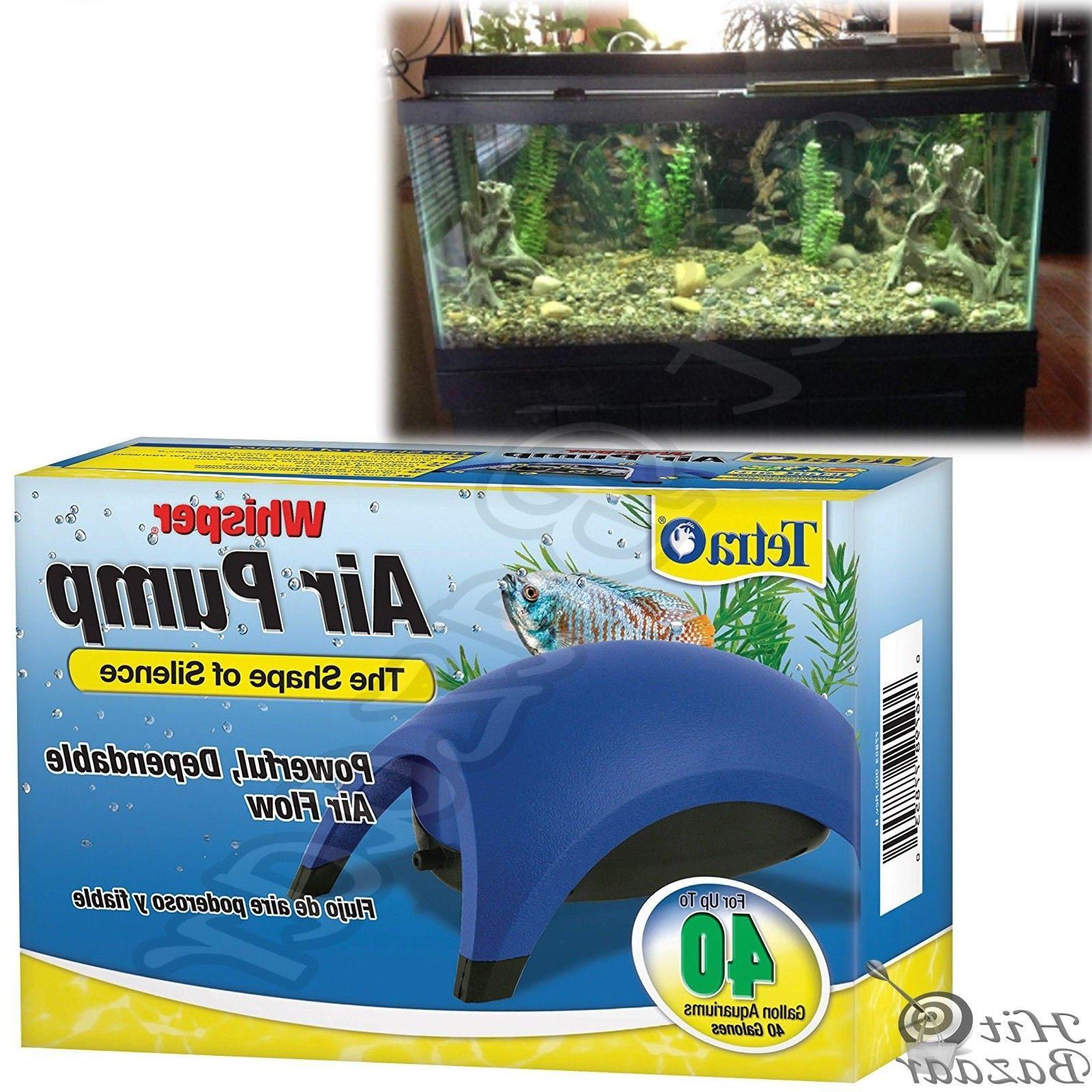 whisper air pump aquarium water fish tank