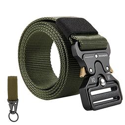 KingMoore Men's Tactical Belt Heavy Duty Webbing Belt Adjust