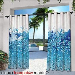 Modern Outdoor- Free Standing Outdoor Privacy Curtain Aquari