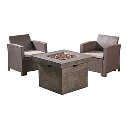 Great Deal Furniture Ollie Outdoor 2-Seater Wicker Club Chai