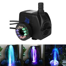 Pond Water Pump with LED Lights for Fountain Fish Tank Aquar