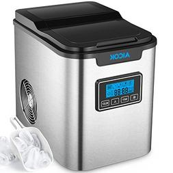 Portable Ice Maker Aicok, Countertop Ice Machine with Self-c