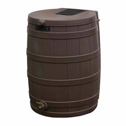Rain Barrel Plastic 50 Gallon Drum Water Storage Container G