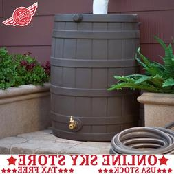 Rain Wizard 40 Gallon Plastic Rain Water Storage Barrel with