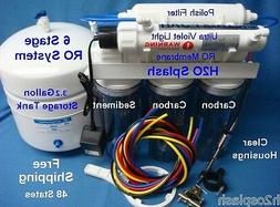 Reverse Osmosis System Water Filter 6 Stage 75GPD RO UV Tank