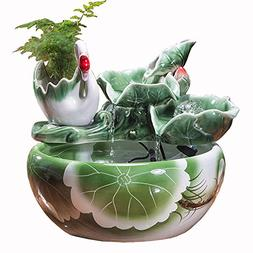 Sitting Room fengshui Wheel Fortune Flowing Water Table top
