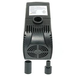 Sunnydaze 160 GPH Submersible Water Pump with Filter and 2 N