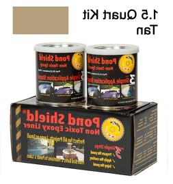 Tan 1.5 Quart Kit Pond Armor Shield Non Toxic Epoxy Sealer P