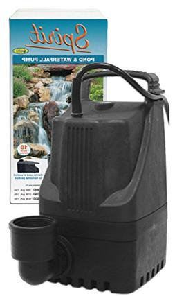 EasyPro Pond Products TLS2750 Spirit Pond and Waterfall Pump