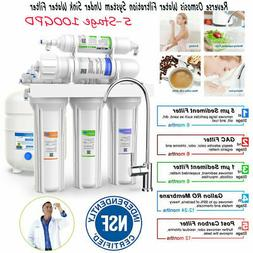 Under Sink Water Filter System 5Stage 100GPD RO Water Purifi
