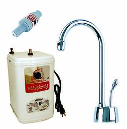 Velosah Contemporary 9 in. Hot Water Dispenser and Tank in O