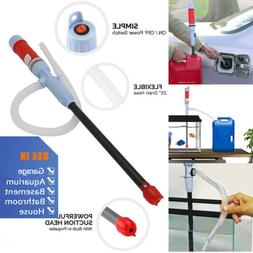 Water Pump Liquid Transfer Gas Oil Siphon Battery Operated E