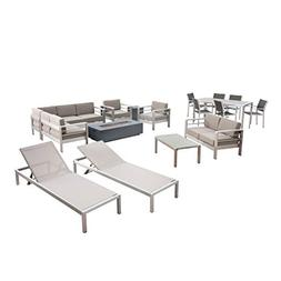 Great Deal Furniture West Coral 7 Piece Dining Set with Faux