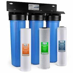 iSpring WGB32B-PB 3Stage Whole House Water System w/ Iron &