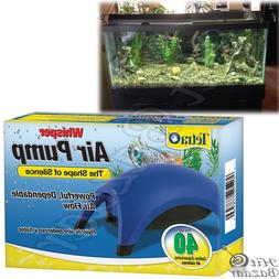 WHISPER AIR PUMP Aquarium Water Fish Tank Quiet Powerful For